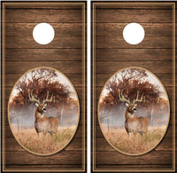 Whitetail Buck #2 Brown Distressed Wood