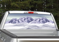 Winter Mountain Scene Rear Window Decal