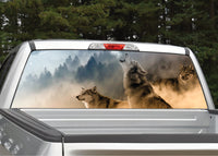 Wolf Scene #2 Wolves Howling Rear Window Decal