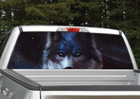 Wolf #2 Night Scene Rear Window Decal