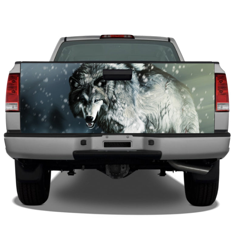 Wolf #2 In Winter Snow Tailgate Wrap