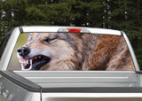 Wolf #5 Growling Rear Window Decal