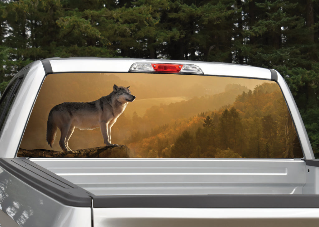 Wolf in Sunset Rear Window Decal