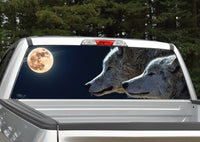 Wolves Full Moon Rear Window Decal