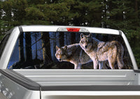 Wolves Scenery Rear Window Decal