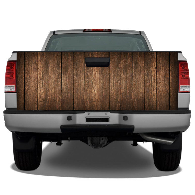 Distressed Wood Planks (Brown) Tailgate Wrap
