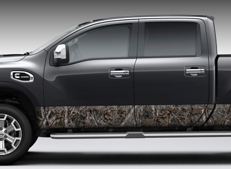 "Camo ""Woodland Ghost"" Rocker Panel Decal Kit"