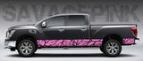"Camo ""Savage Pink"" Rocker Panel Decal Kit"