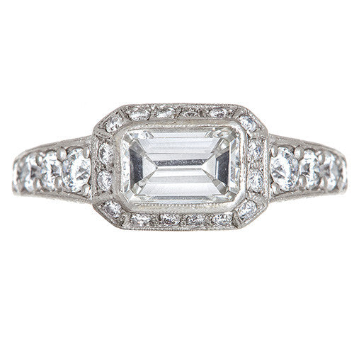 Estate Diamond and Platinum Ring