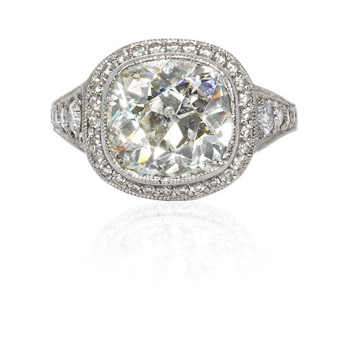 Estate Platinum and Diamond Ring