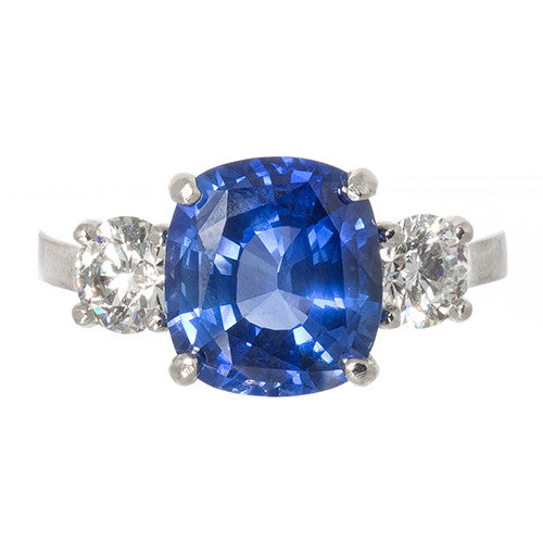 LPL Signature 3 Stone Sapphire and Diamond Ring