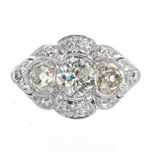 Estate Three Stone Diamond Ring