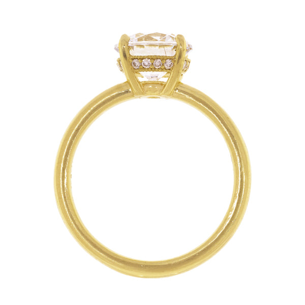 18k Yellow Gold Solitaire Semi-Mount Ring