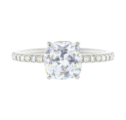 Cushion Cut Diamond Semi-Mount Prong Set Semi Mount