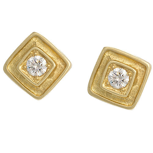 "LPL Signature Collection ""The Clayton"" 18kt Yellow Gold and Diamond Earrings"