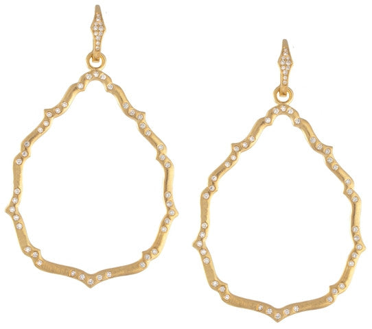 18kt Yellow Gold Aragon Earring with Diamonds