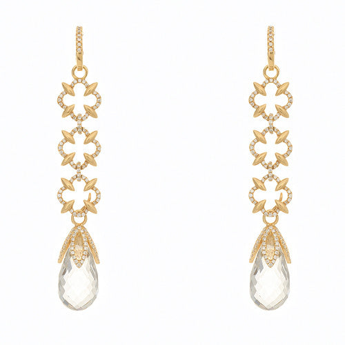 Katie Decker 18kt Yellow Gold and Diamond Earrings