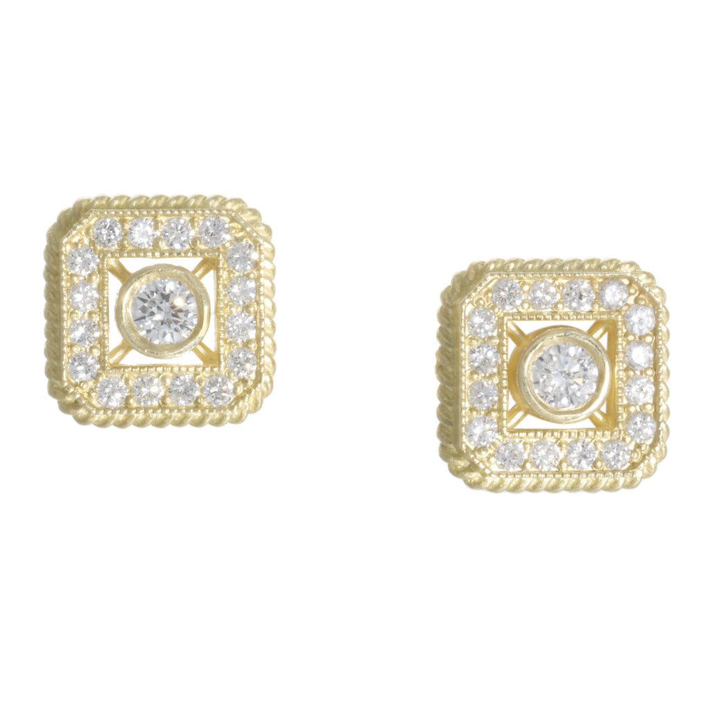 "LPL Signature Collection ""The Parker"" 18kt Yellow Gold and Diamond Earrings"