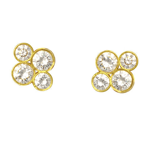 "LPL Signature Collection 18 Karat Yellow Gold and Diamond ""Anderson"" Earrings"
