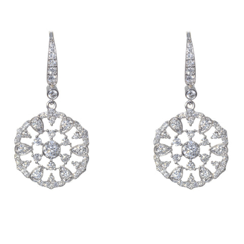 Penny Preville 18kt White Gold and Diamond Round Garland Earring