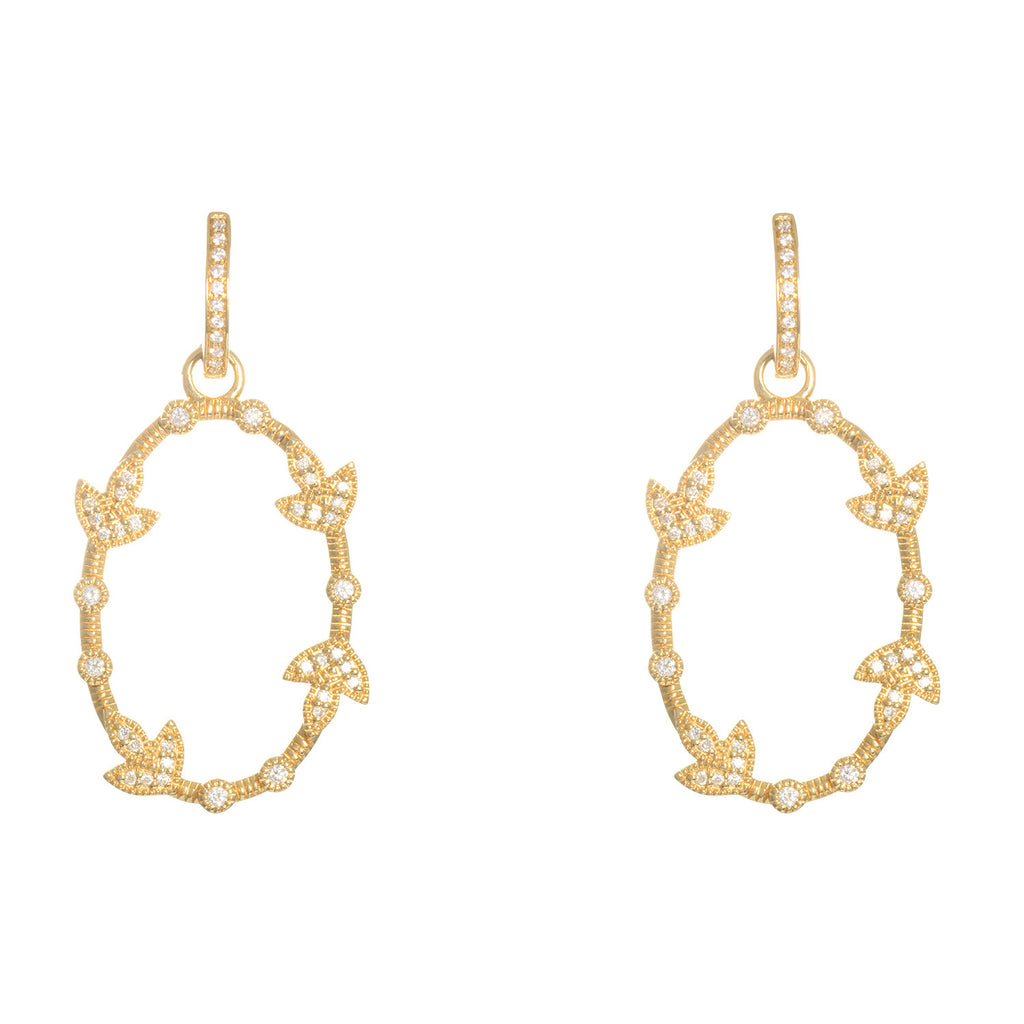 Katie Decker 18kt Yellow Gold Comtesse Oval Earrings