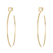 "LPL Signature Collection ""The Morgan"" Medium Earrings in 18 Karat Yellow Gold"