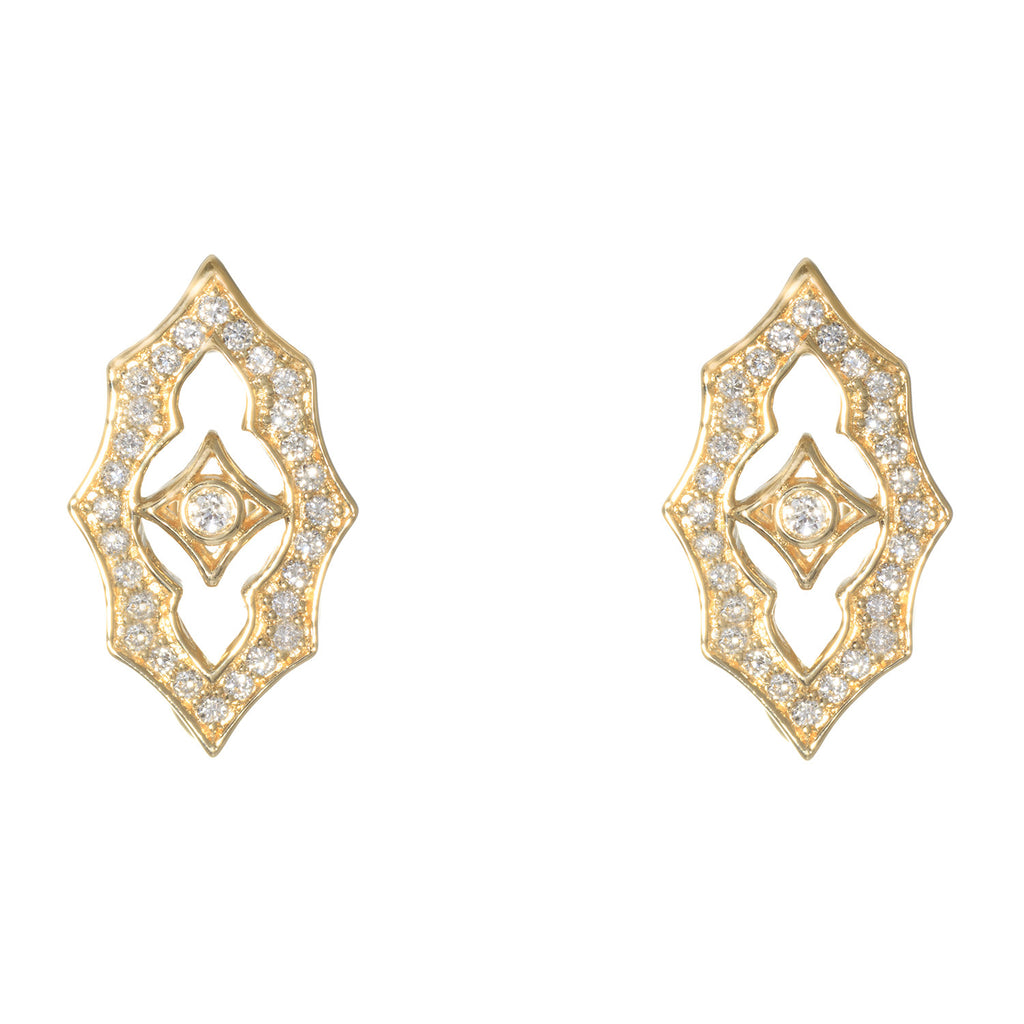 Katie Decker 18kt Yellow Gold Gothic Clip Earring