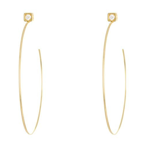 LPL Signature Collection 18k Yellow Gold Diamond Hoops