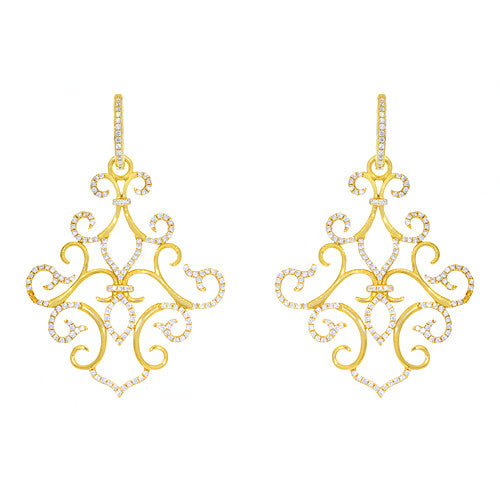 Katie Decker 18kt Yellow Gold Versailles Earring with Diamonds