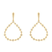 14k Yellow Gold Diamond Drops