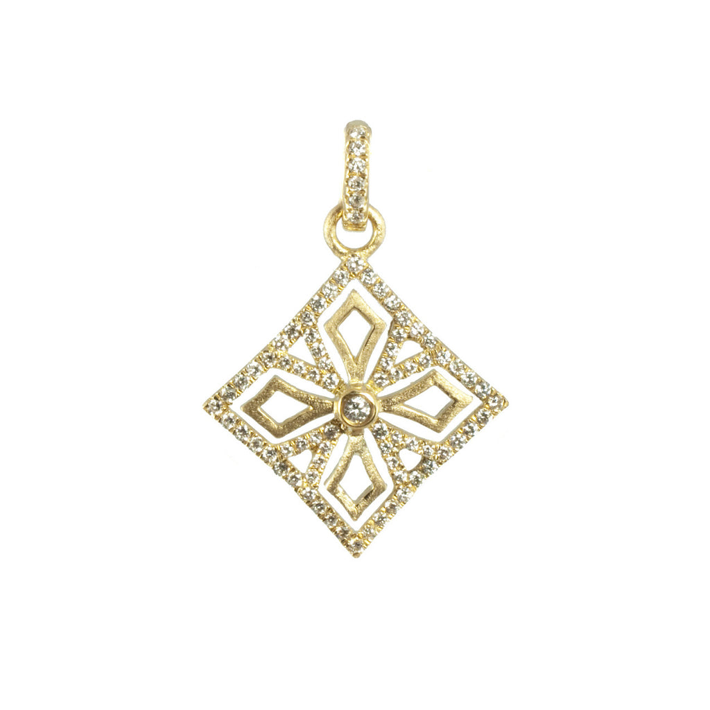 Katie Decker 18 karat Yellow Gold Maltese Cross Pendant