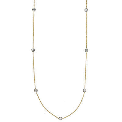 18kt Yellow Gold DBY Necklace