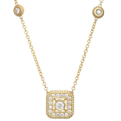 "LPL Signature Collection ""The Parker"" 18kt Yellow Gold and Diamond Pendant"