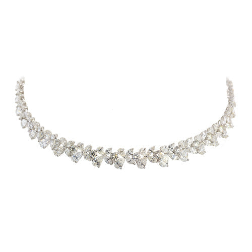 Estate Platinum Diamond Necklace