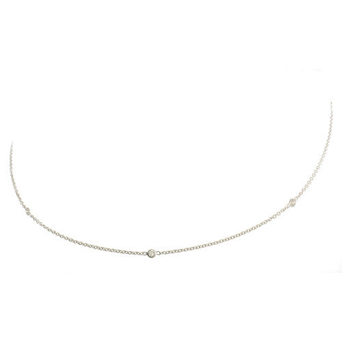 18kt White Gold DBY Necklace