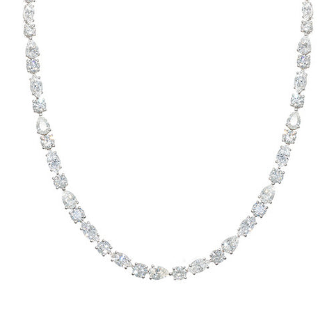 Platinum Diamond Riviera Necklace