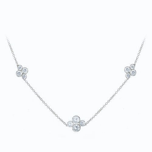LPL Signature Collection Platinum 3 Station Diamond Necklace