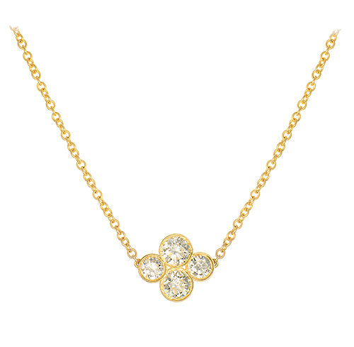 LPL Signature Collection 18k Yellow Gold Large Anderson Diamond Necklace
