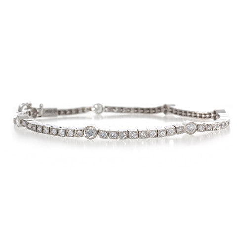 Estate Platinum and Diamond Bracelet