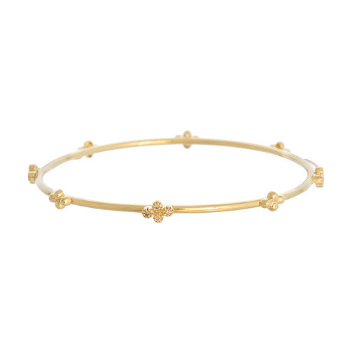14kt Yellow Gold and Diamond Capri Bangle