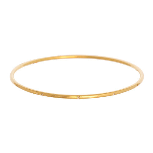 14kt Yellow Gold Bangle with Diamonds