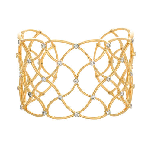 18kt Yellow Gold and Diamond Web Cuff
