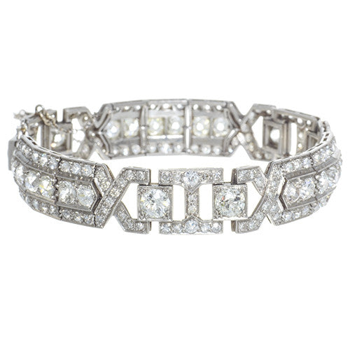 Antique Platinum Diamond Bracelet