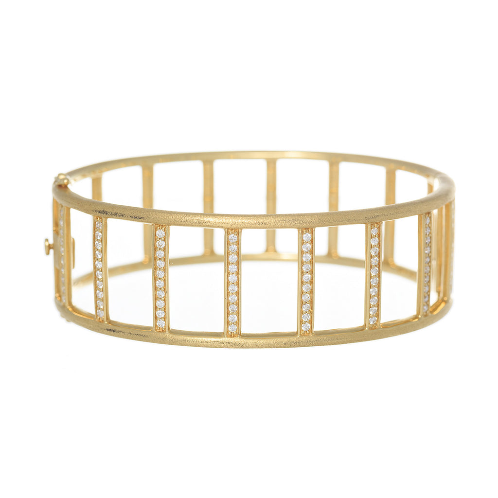 Katie Decker 18kt Yellow Gold Minimalist Bar Bracelet