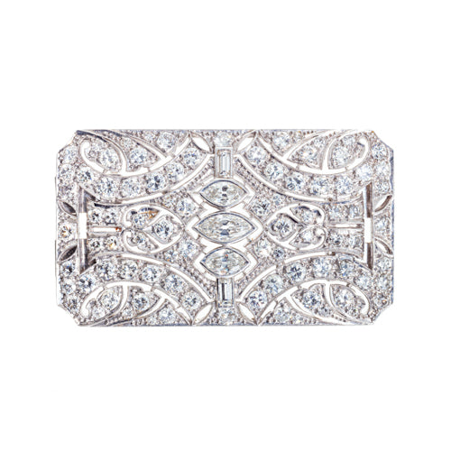 Estate Platinum and Diamond Brooch