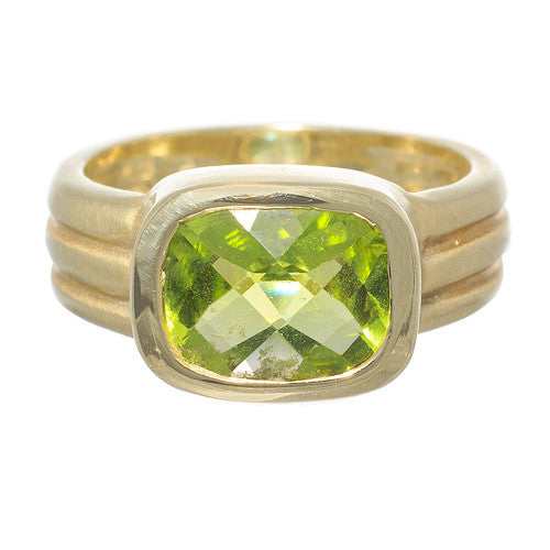 14 Karat Yellow Gold Ring with Peridot