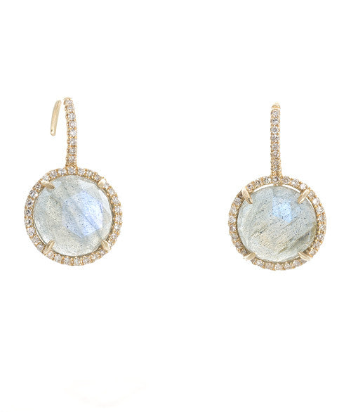 14kt Yellow Gold Labradorite Earrings
