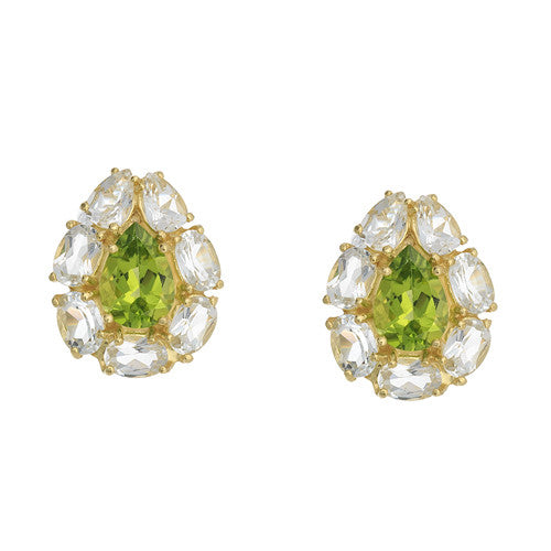 18kt Yellow Gold Peridot Earrings