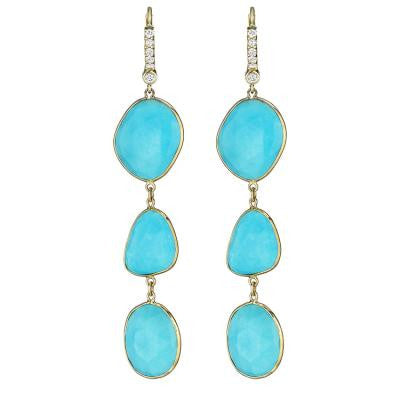 Penny Preville Turquoise Triple Drop Earrings