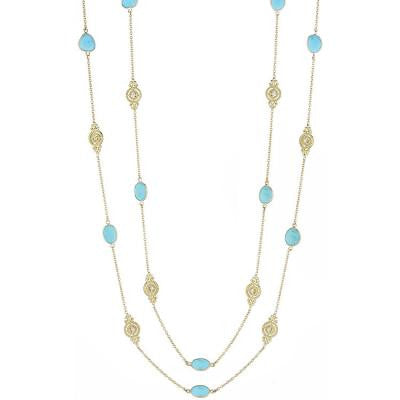 Penny Preville Turquoise Scroll Unit Signature Chain